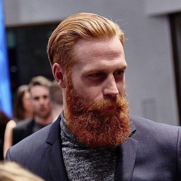Gwilym Pugh - full thick bushy red beard mustache beards bearded man men mens' style redhead ginger bearding #beardsforever