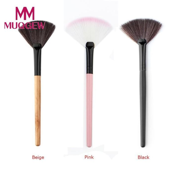 1pcs Women Pro Makeup Fan Blush Face Powder Foundation Cosmetic Makeup Brush Tool Gift &8-10