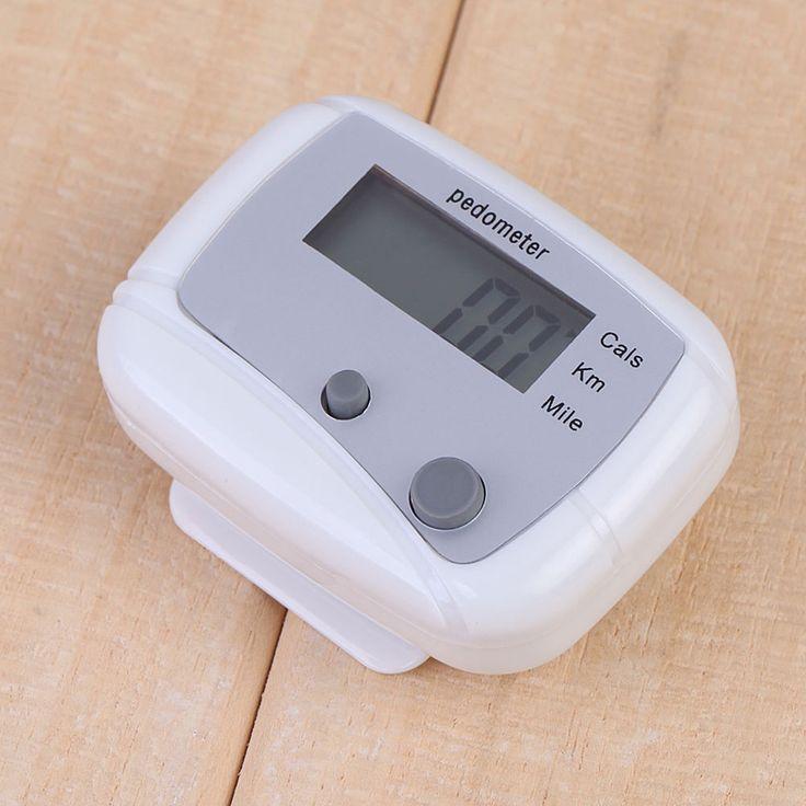 FE # Putih Multifungsi Passometer Luar Olahraga Berjalan Jarak Calorie Counter Pedometer Qualitiy Tinggi