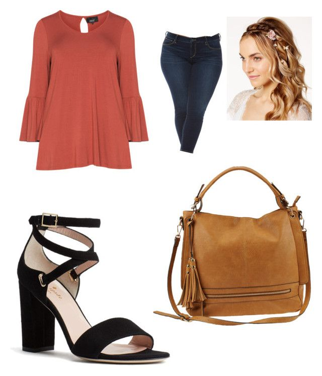 """Untitled #16"" by cardenas-ordaz on Polyvore featuring Zhenzi, Slink Jeans, Josette, Kate Spade, Urban Expressions and plus size clothing"
