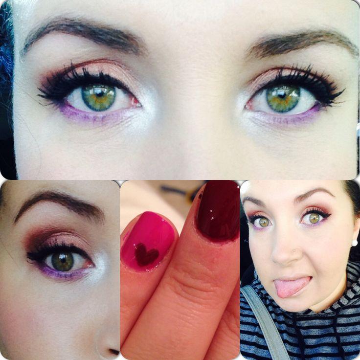 I love adding purple to my everyday makeup.