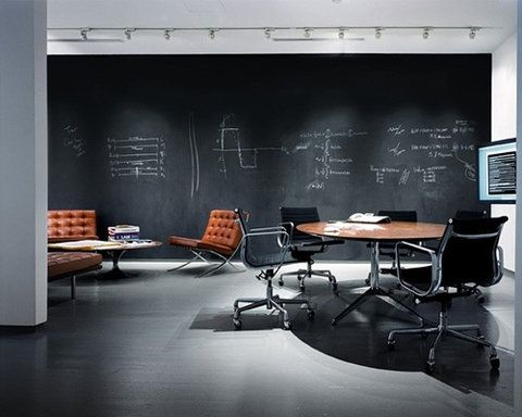 Chalkboard walls would also be great in our break-out space to generate ideas and let others collaborate!