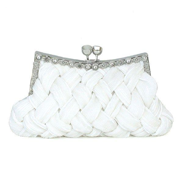 Chic Silk Handbag With Nice Criss-cross Pattern   Read More:   http://jewellerycabin.com/chic-silk-handbag-with-nice-criss-cross-pattern-in-ivory-color-1194.html