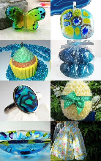 The Blue, Yellow and Green of Spring by Carolyn Ford on Etsy--Pinned with TreasuryPin.com