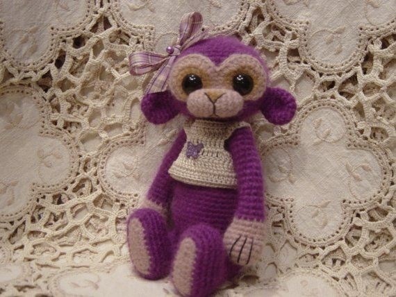 Frannie OOAK Artist ThReAd crochet Monkey by CrochetTeddyBears