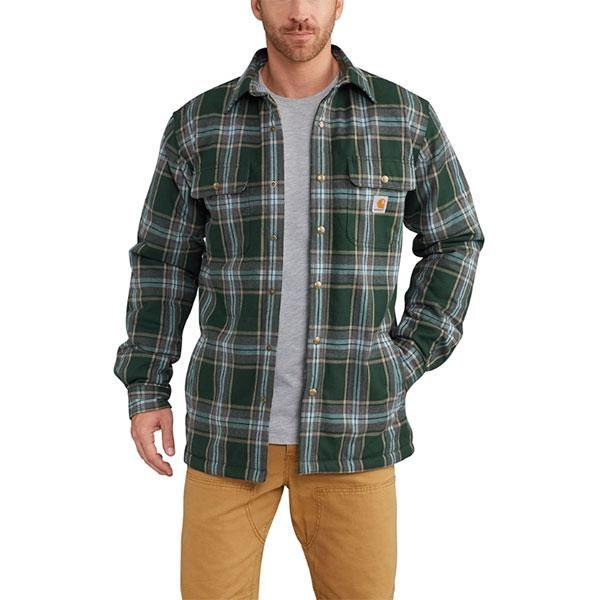 Regular and Big /& Tall Sizes Carhartt Mens Hubbard Sherpa Lined Shirt Jacket
