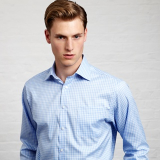 Steamboat Check Shirt - Button Cuff by Thomas Pink