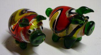 Glazen varkentje TE KOOP voor 6,95 euro per stuk - http://fmlkunst.home.xs4all.nl/glazenvarkens2/glas2.htm