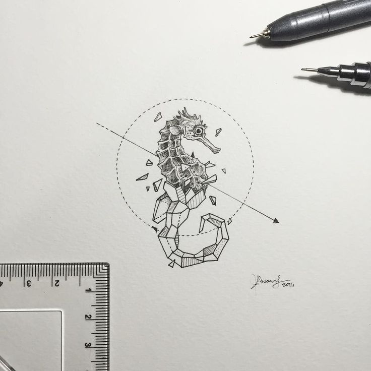Geometric beasts sea poney