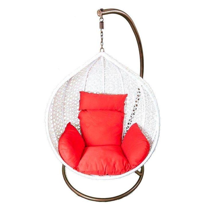 Teardrop rattan hanging chair hanging egg chair rattan for Diy hanging egg chair