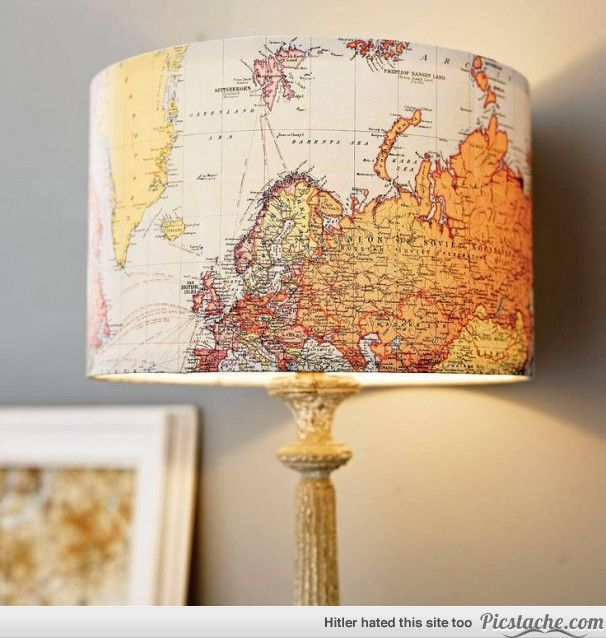 Used Map Lamp Shade. Would look cool in our bedroom with the ship theme!
