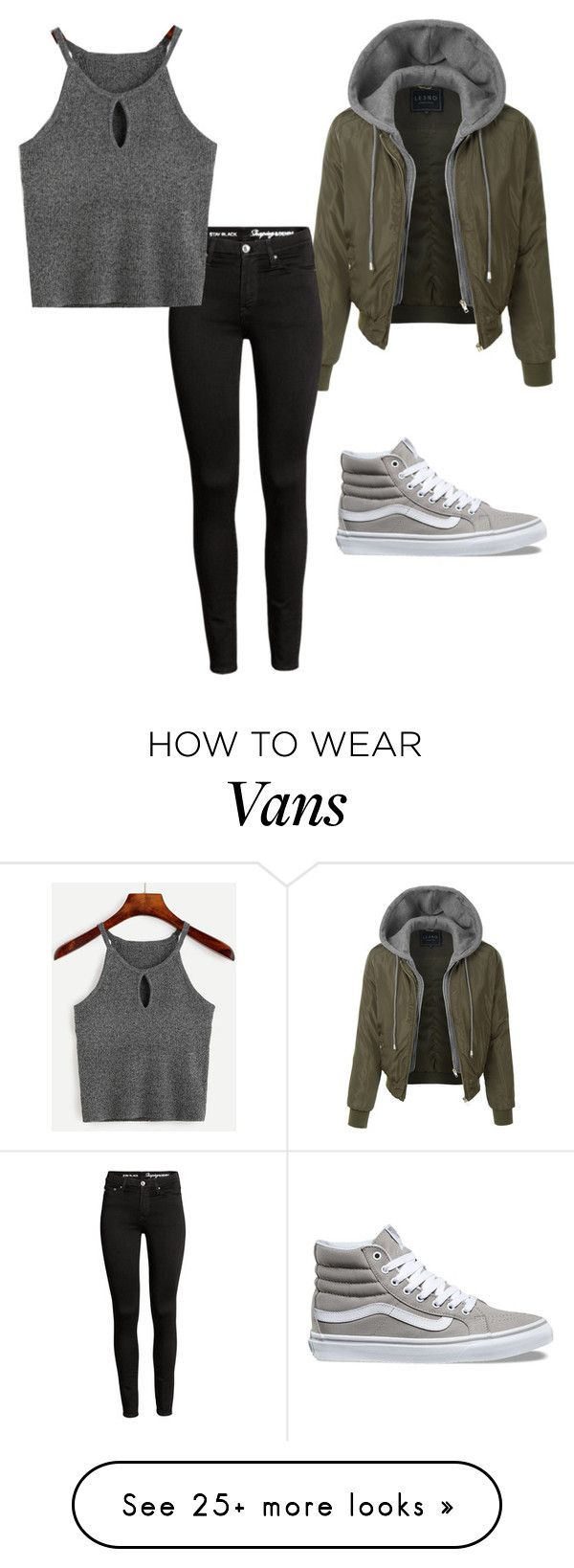 """Untitled #83"" by pinkj3w3l on Polyvore featuring LE3NO and Vans"
