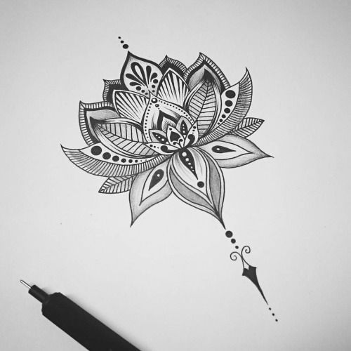 Image result for lotus flower back tattoo