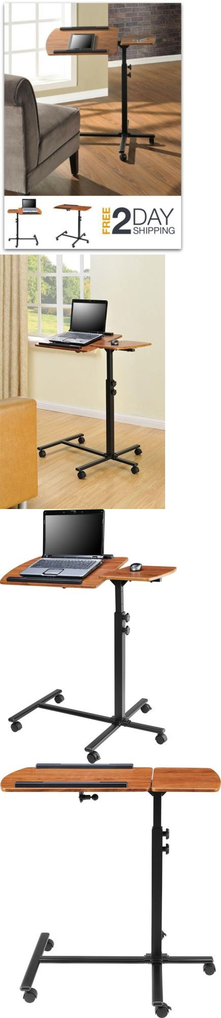 Bed and Chair Tables: Hospital Bedside Table Over Bed Computer Tray Laptop Rolling Swivel Wheel Cart -> BUY IT NOW ONLY: $55.84 on eBay!