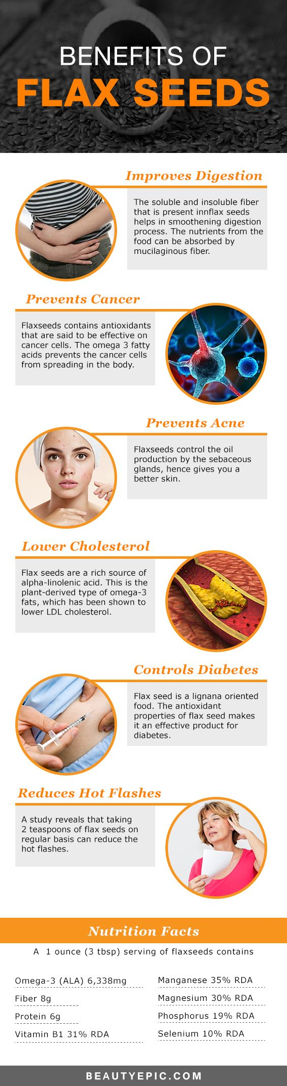 Benefits of Flax Seeds For Skin, Hair and Health