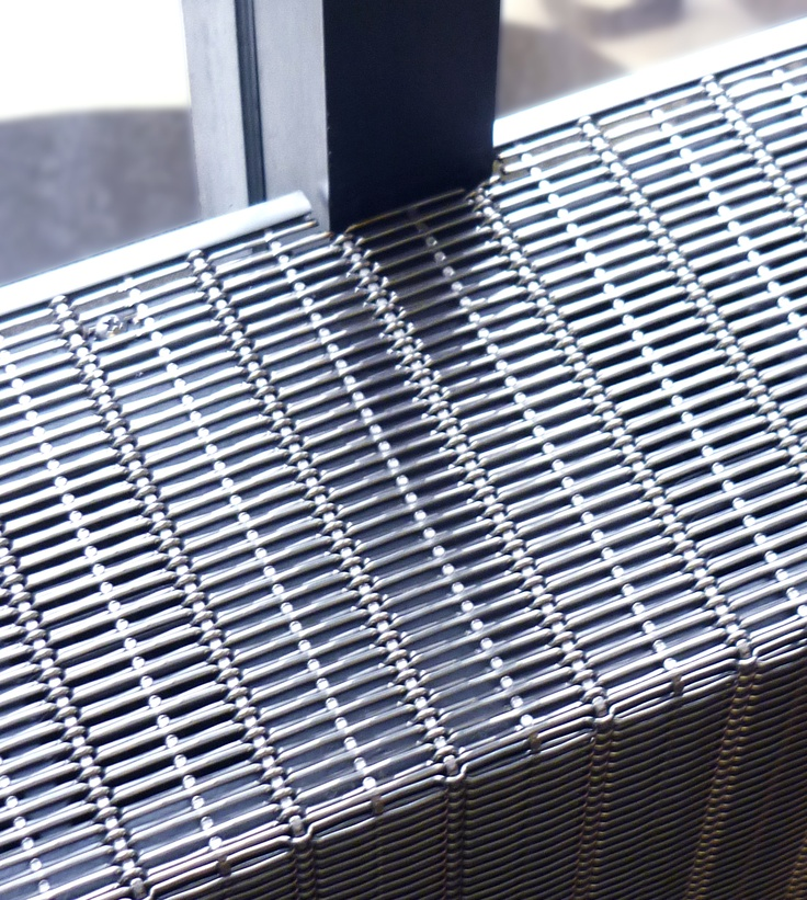 woven wire mesh was used for the electric baseboard heater covers in the renovation of