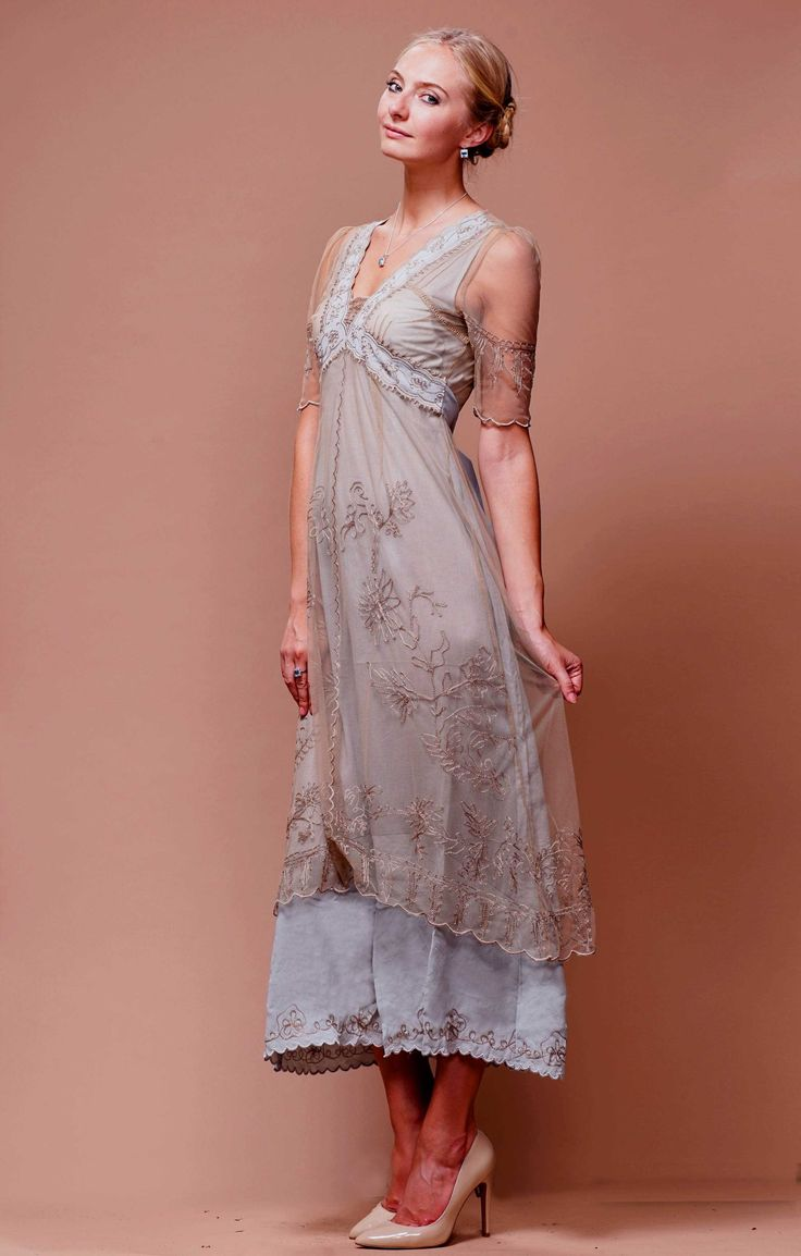 new vintage titanic tea party dress in ivorynataya in