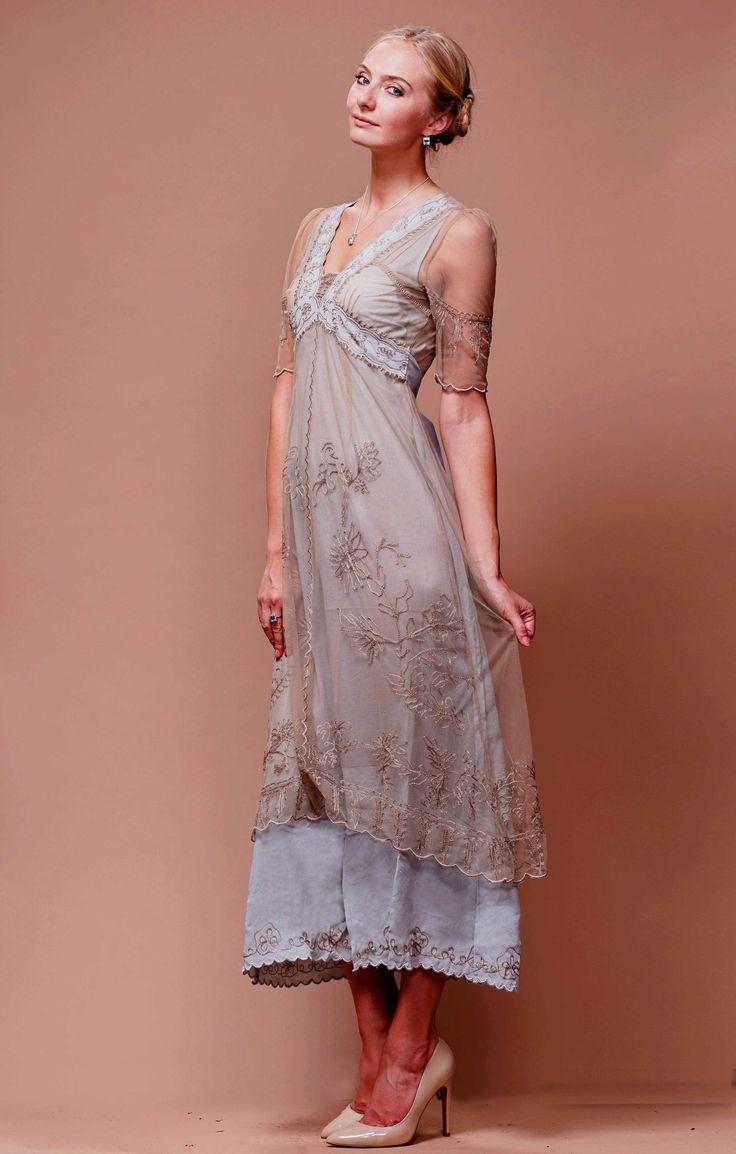 new vintage titanic tea party dress in ivorynataya