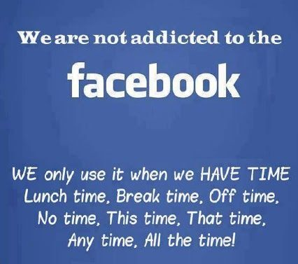 the facebook addiction Facebook, twitter, and other social media have good and bad features, like most technology it is up to us to make the best of these technologies while minimizing their bad effects on our lives.