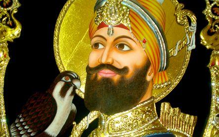 Guru Shaib tanjore painting