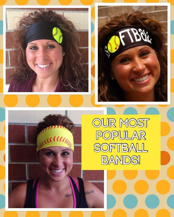 These 3 softball headbands for the price of 2 by FitnesswithFlair