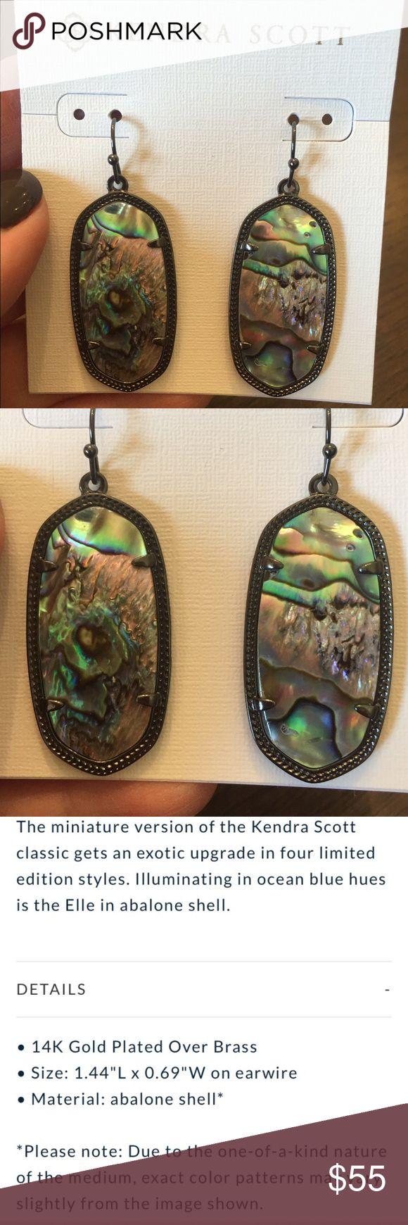 Kendra Scott Elle Earrings In Gunmetal & Abalone Kendra Scott Elle Earrings In Gunmetal & Abalone Shell. NWT Kendra Scott Jewelry Earrings