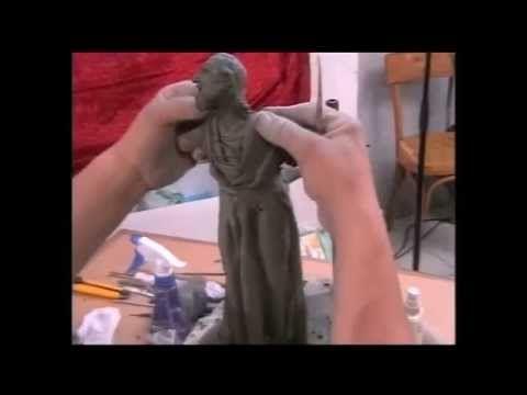4/7 - Creare e costruire statue per presepe con i F.lli De Matteis - Fare presepi con l'AIAP - YouTube