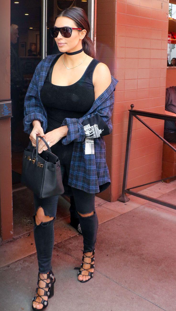 Kim Kardashian West Shows Off Shockingly Low-Key Street Style
