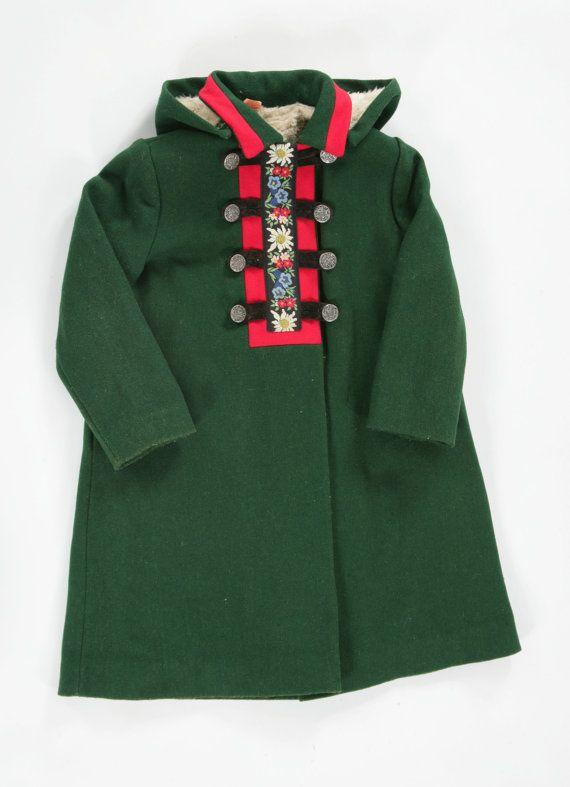 Girls vintage tabard coat. Age 11 by PeachandLoveVintage on Etsy, £45.00