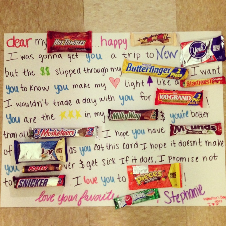 Images of Valentines Day Candy Card Homeas – Valentine Card Ideas with Candy