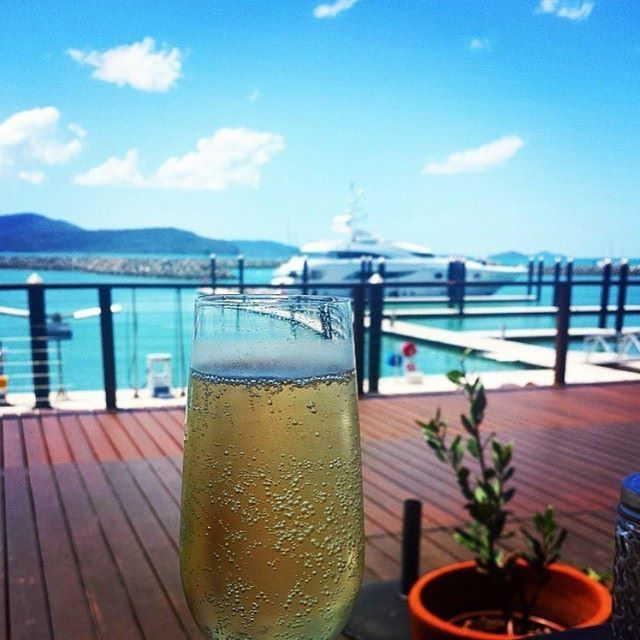 Cheers from Airlie Beach in Queensland at Abell Point Marina located at the gateway to the Whitsundays & home to a range of restaurants & Cafes by @visitairliebeach (viaIG)
