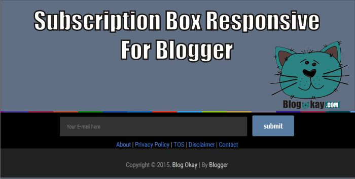 How To Make Responsive Subscription Box Above Footer