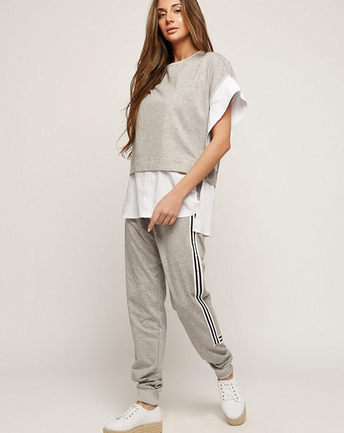 db7a2e85d333 Брючный костюм женский street style серый, код 2163 ТМ