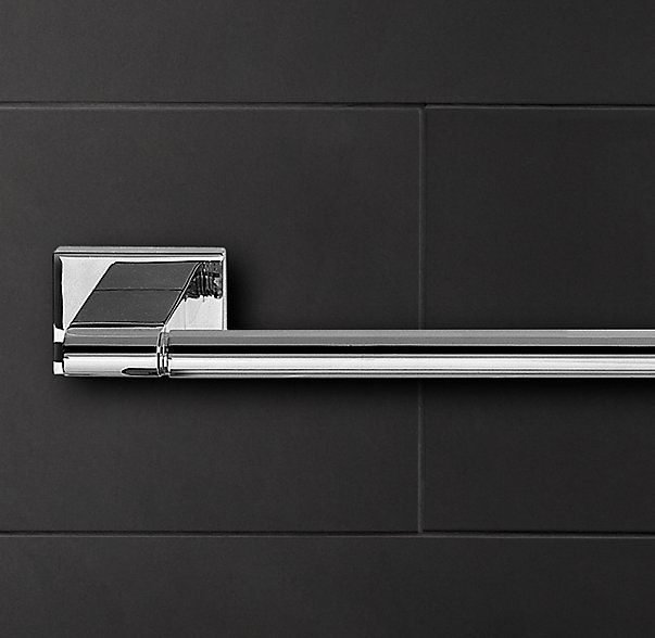 "Modern Towel Bar- (2) 30"" Towel Bar in Polished Nickel located in office"