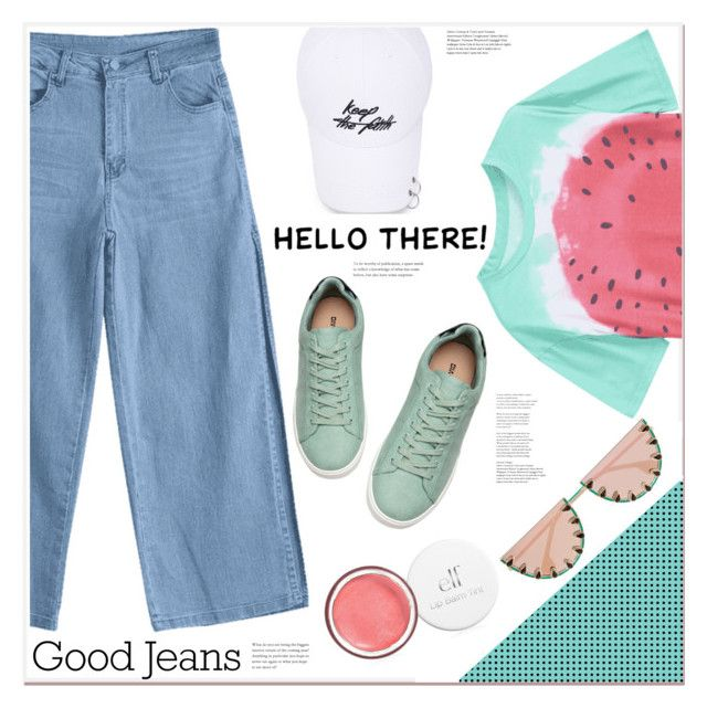 """hello there"" by mycherryblossom ❤ liked on Polyvore featuring Hudson Jeans and Alice + Olivia"
