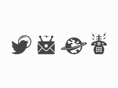 These are some really unique outer space icons, Really digging the minimal style of these & the legibility of them, Nice Creative Shit (; #icon #space #beautiful #moon