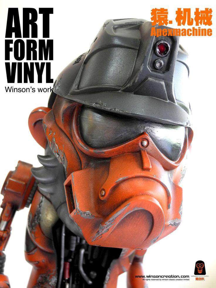 Worker mask & helmet.