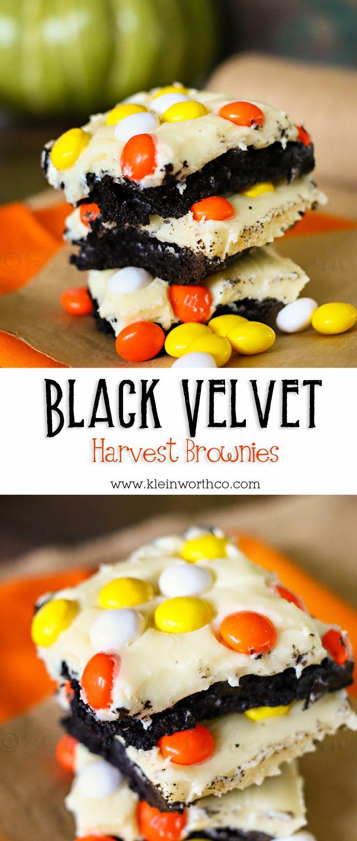 Black Velvet Harvest Brownies {Fall Harvest Blog Hop} on kleinworthco.com