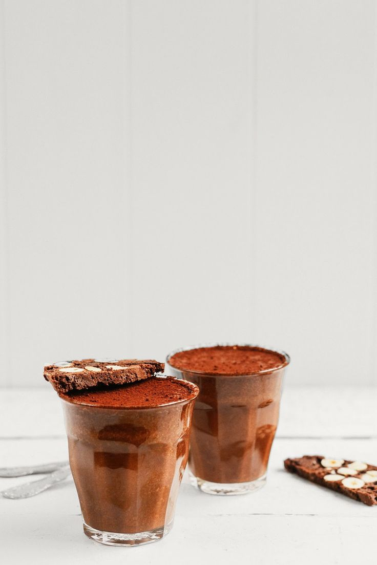 chocOlate coffee mousse with chocolate hazelnut biscotti