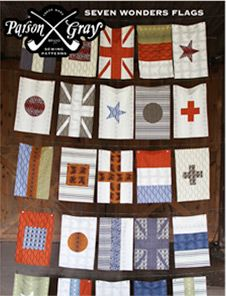 Amy Butler flags pattern, good idea for boy quilts..they love the maps and flags and it'd last them longer than the SW quilts they want me to make..