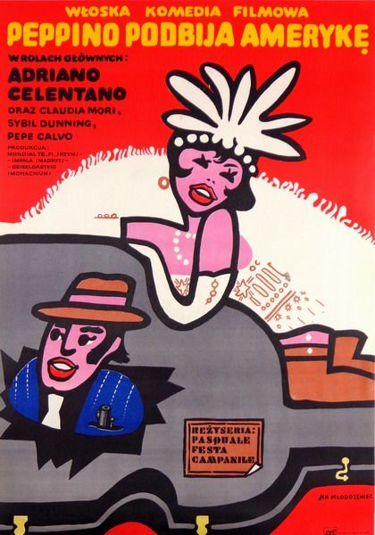 Little Funny Guy Peppino podbija Ameryke Mlodozeniec Jan Polish Poster