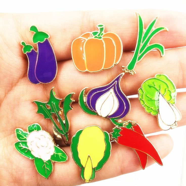 X183 Free shipping Cute Vegetables Metal Brooch Pins,Chic Fashion Jewelry Wholesale