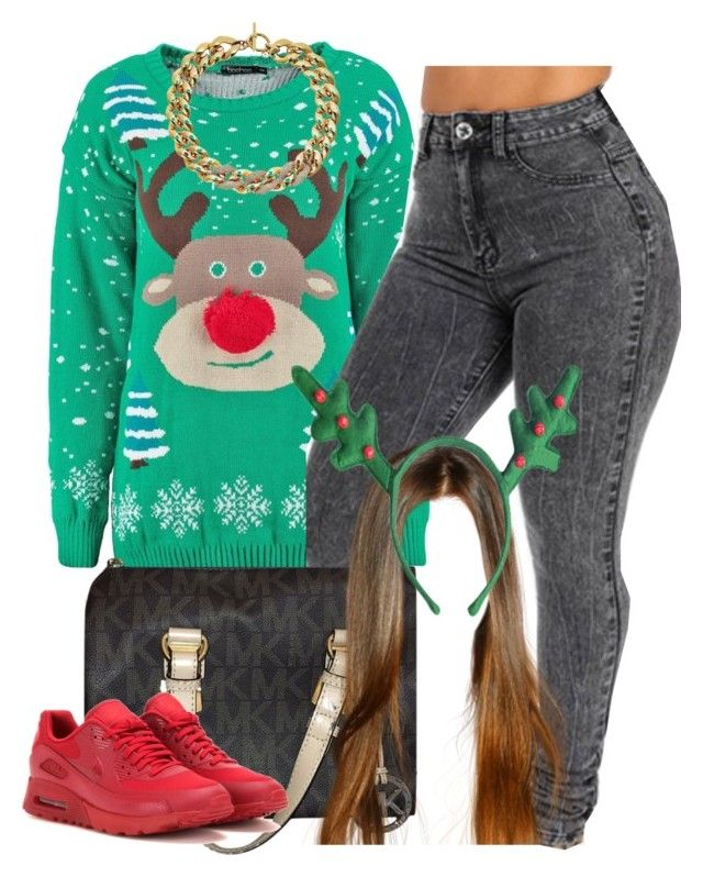 """""""11 days till Xmas countdown"""" by trillest-queen ❤ liked on Polyvore featuring Michael Kors and NIKE"""