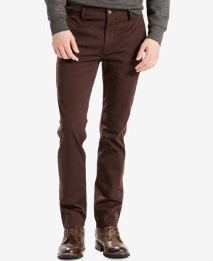 Levi's 511 Slim Fit Hybrid Trousers - Brown 42x30