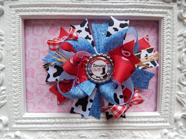 Cowgirl Hair Bow, Bottle cap hair bow, hair bows for girls, country hair bows, bandana hair bows by bowdaciousbows417 on Etsy https://www.etsy.com/listing/198012656/cowgirl-hair-bow-bottle-cap-hair-bow