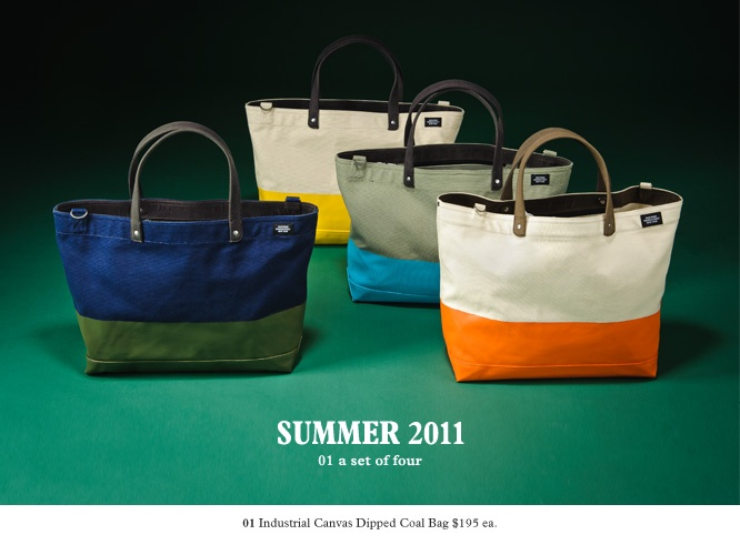Jack Spade Dipped Industrial Coal Bags: I'll take any and every version please...