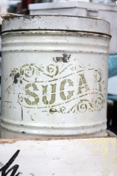 Sugar canister- would make a great vase for hydrangeas