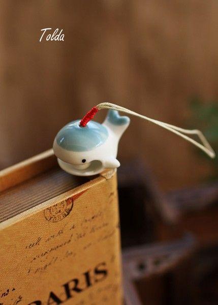 """Ornamenti: palle - Porcellana fatti a mano """"wielorybek"""" gingillo - un prodotto unico di Tolda su DaWanda"""