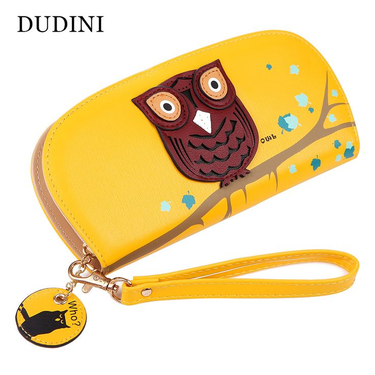 Free Shipping Cute Owl Stereoscopic Printing Rounded Zipper Long Women Wallet Ladies' Clutches Short Change Purses Card Holders ** Details can be found by clicking on the image.
