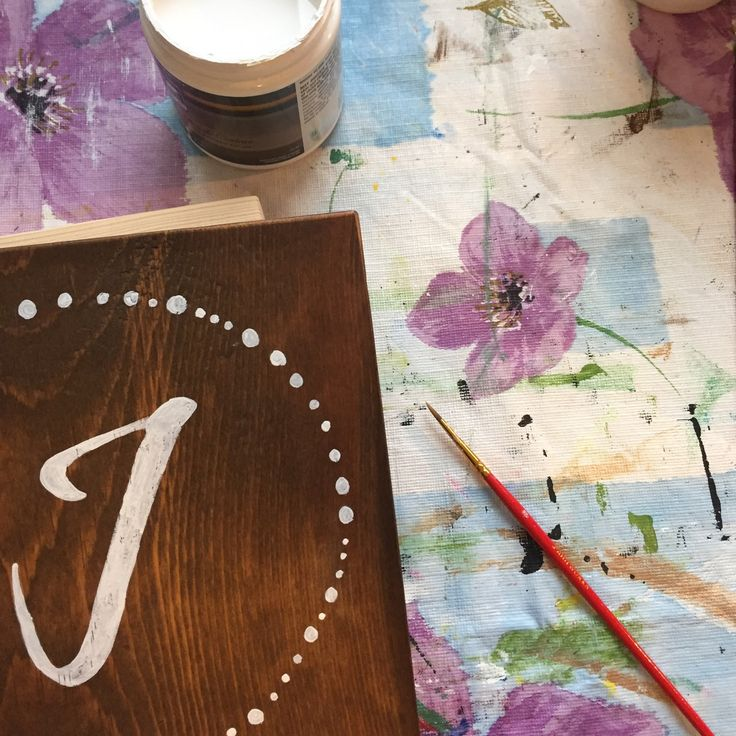 Working on an order for a custom initial!
